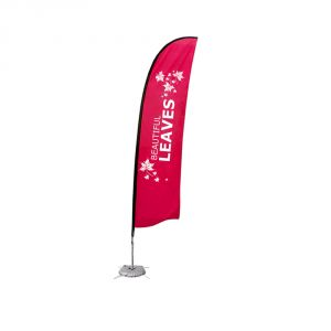 13.1 ft Wing Banner with Cross Water Bag Base (Double Sided Printing)