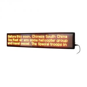 """40"""" x 9"""" Semi Outdoor 3 Lines LED Scrolling Sign(Tricolor or Single Color)"""
