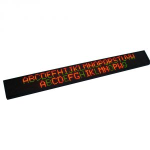 "59"" x 9"" Semi Outdoor 3 Lines LED Scrolling Sign(Tricolor or Single Color)"