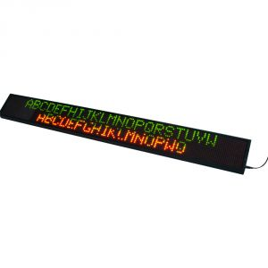 """69"""" x 11"""" Semi Outdoor 4 Lines LED Scrolling Sign(Tricolor or Single Color)"""
