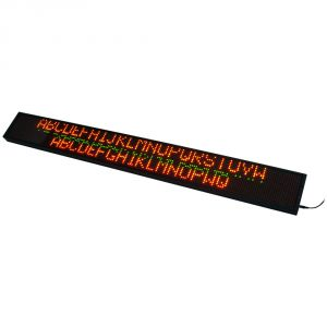 "79"" x 9"" Semi Outdoor 3 Lines LED Scrolling Sign(Tricolor or Single Color)"