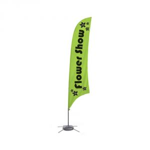 9.8 ft Feather Banner with Cross Water Bag Base (Double Sided Printing)