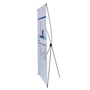 "Good Quality Carbon Fiber X Banner Stand (24""x63"")"