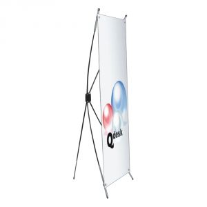 "Round Bar Classic X Banner Stand (24""x63"")"