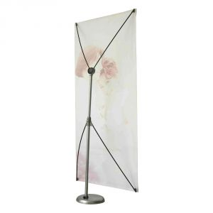 Round Base Height Adjustable X Banner Stand