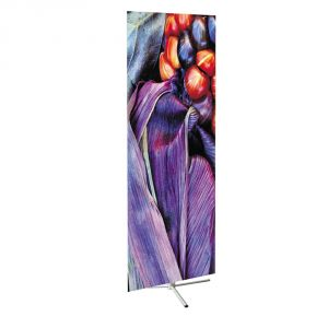 Triple Base Adjustable Poster Display Stand (Graphic printed)