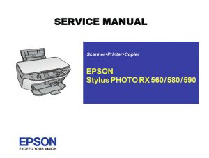 EPSON RX560 580 590 English Service Manual (Direct Download)