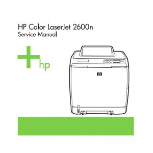 HP Color LaserJet 2600n English Service Manual (Direct Download)