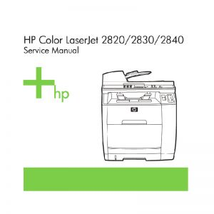 HP Color LaserJet 2820 2830 2840 Laser Printer English Service Manual