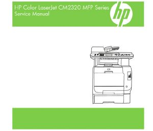 HP Color LaserJet CM2320 MFP English Maintenance Manual