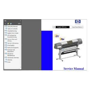 HP DesignJet 5000 5000PS Large Formart Printer Plotter English Service Manual(Direct Download)