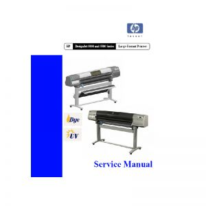 HP DesignJet 5000 5500 Large Formart Printer Plotter English Service Manual