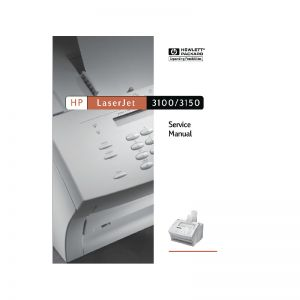 HP LaserJet 3100 3150 English Service Manual(Direct Download)