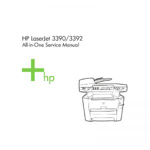 HP LaserJet 3390 3392 English Service Manual
