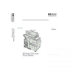 HP Mopier 320 Printer English Service Manual