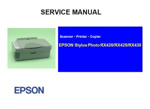 EPSON RX420 RX425 RX430 English Service Manual