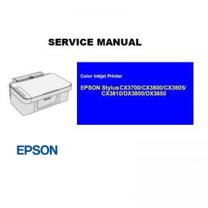 EPSON Stylus CX3700 3800 3805 3810/DX3800 3850 Printer English Service Manual