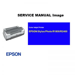 EPSON Stylus Photo R1800 R2400 Printer English Service Manual (Direct Download)