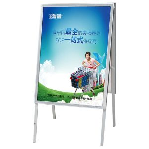 supermarket standing metal display poster