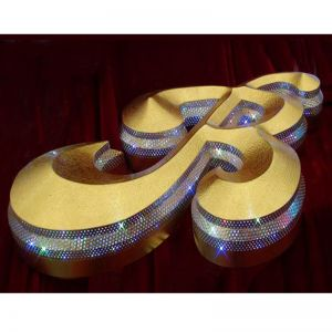 201# Stainless Steel-Illuminate Channel Letter-R