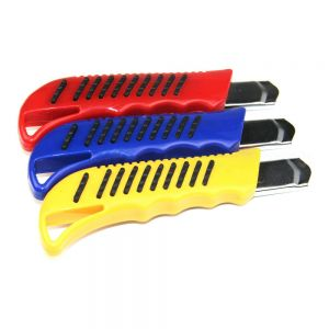 18mm Auto-Lock Retractable Slide Snap Off Utility Knife Cutter