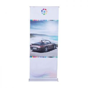 """31.5"""" x 78.8"""" Double Side Trapezoidal Base Roll Up Stand Banner (Graphic Included)"""