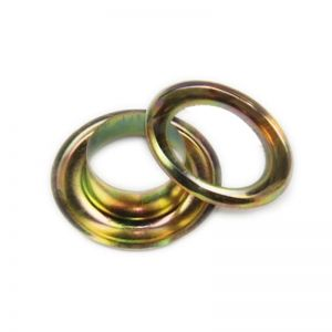Limited Offer-4# (10.5mm) Yellow Iron Grommet for Mini Hand Press Grommet Machine