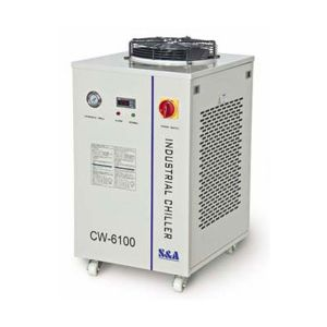 S&A CW-6100AI Industrial Water Chiller for 2 x 200W or Single 400W CO2 Glass Laser Tube Cooling, 1.84HP, AC 1P 220V, 50Hz