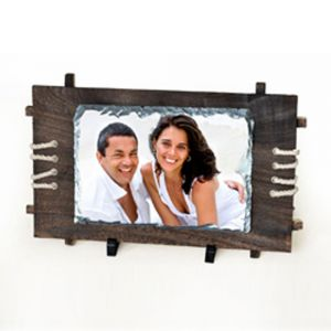 Rectangular Sublimation Photo Slate  with Wood Frame (28 x 30CM)
