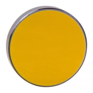 Silicon Reflection Mirrors for Engraving and Cutting with Gold-plating, Dia.25mm x 3mm