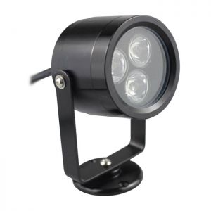 12-24V 3x1W RGB Black Underwater Lamp