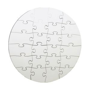 Pearlescent Circle Dye Sublimation Blank Jigsaw Puzzle Child DIY Games Toy Heat Transfer