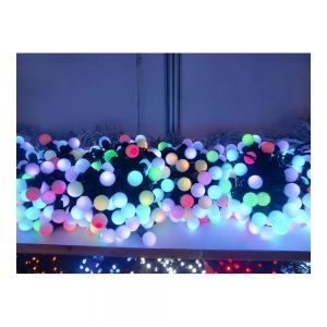 DC24V Φ24mm Color Changing 100LED RGB Ball 32 Feet String for Christmas XMAS Party
