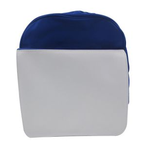 Blue Blank Sublimation Backpack with Heat Transfer Flap for Kids