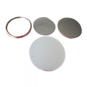 1000pcs Blank 75mm Mirror Button with Metal Ring