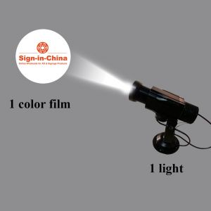 High Quality 12W LED Rotating Gobo Advertising Logo Projector Light (with Custom Glass Gobos)