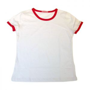Blank Men's Combed Cotton T-Shirt with Rim Colorful for Men for Personlized Heat Transfer Printing