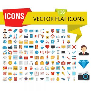 Office Vector Flat Icon Set (Free Download Illustrations)