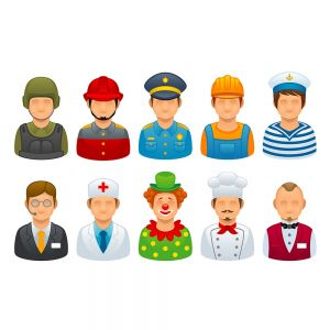 Different Career and Occupations Vector Stock Set Illustrations (Free Download Illustrations)