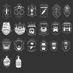 Set of Badges and Stickers Signs Vector Illustrations (Free Download Illustrations)