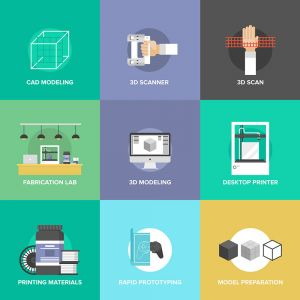 Technology and Network Signs Flat Vector Illustrations (Free Download Illustrations)