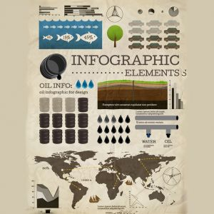 Petroleum Oil Infographics Elements Diagram and Infographics Design Vector Illustration (Free Download Illustrations)