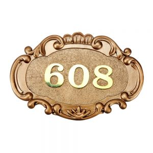 Customized Oval Resin & Stainless Steel One Line Address Number Plaques
