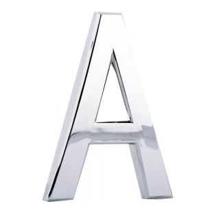 Modern House Plaque Mail Box Silver Arc Letters (Several Sizes Available)
