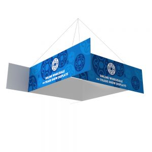 Four-Sided Pinwheel Formulate Fabric Tension Hanging Sign With Graphic