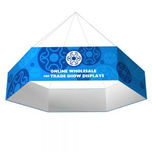 Hexagon Formulate Fabric Tension Hanging Banner Displays with Graphic