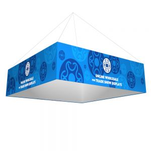 Square Tension Fabric Hanging Sign Tradeshow Display With Graphic