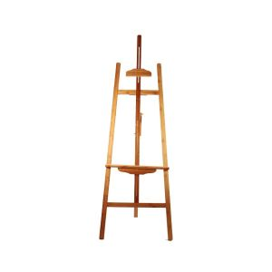 Bamboo Easel for Floor with Adjustable Top Clamp and Bottom Support Bar (Only Stand)