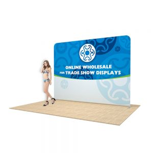 10ft Straight Back Wall Display with Custom Fabric Graphic (Graphic Included/Single Sided)
