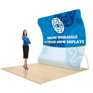 Custom Fabric Graphic for 9ft Vertical Curved Back Wall Display (Graphic Only/Single Sided)